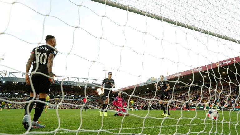 14сентября. Норвич. «Норвич»— «Манчестер Сити»— 3:2. Игроки гостей после пропущенного гола. Фото Reuters