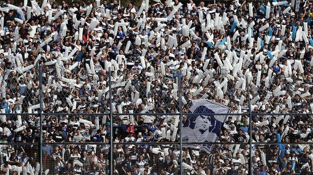 15сентября. Ла-Плата. Фанаты «Химнасии» . Фото AFP