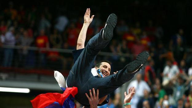 16сентября 2007 года. Мадрид. Испания— Россия— 59:60. Дэвид Блатт. Фото AFP