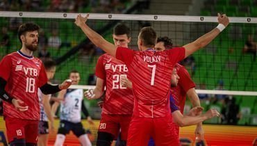 16сентября. Любляна. Россия— Финляндия— 3:0. Россияне празднуют сухую победу.