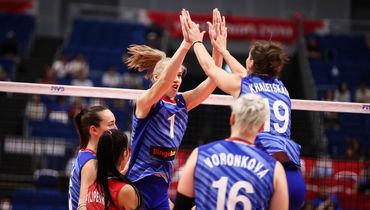 18сентября. Йокогама. Россия— Корея— 3:0. Россиянки остались вчисле лидеров турнира.