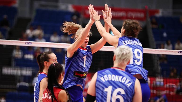 18сентября. Йокогама. Россия— Корея— 3:0. Россиянки остались вчисле лидеров турнира. Фото FIVB