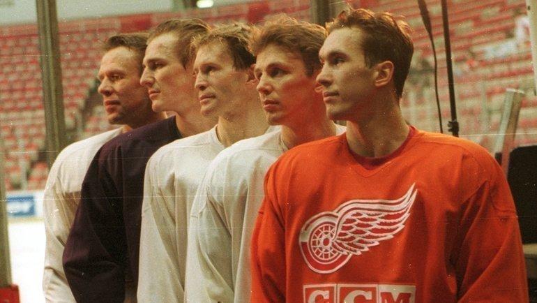 Фетисов, Федоров, Константинов, Ларионов иКозлов (слева направо). Фото Александр Вильф