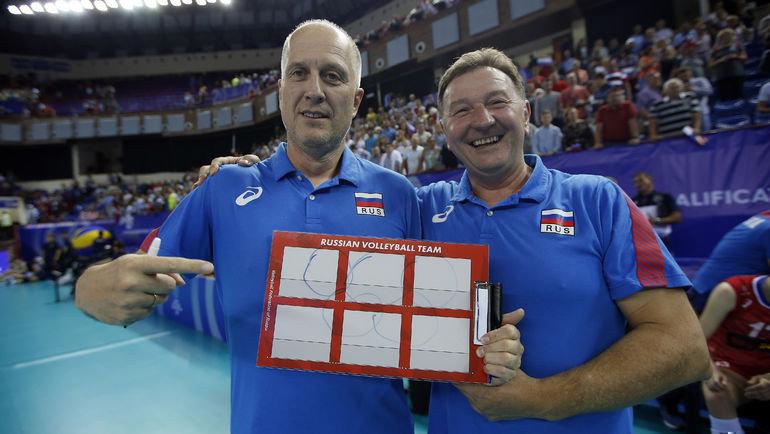 Юрий Булычев иСерджио Бузато. Фото FIVB