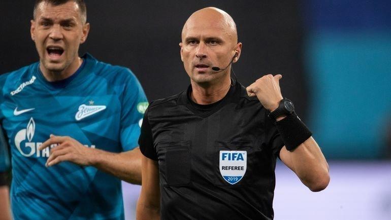 Сергей Карасев отменил два гола Артема Дзюбы после подсказки ВАР. Фото ФК «Зенит»