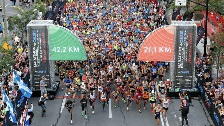 Участники марафона вМонреале. Фото AFP