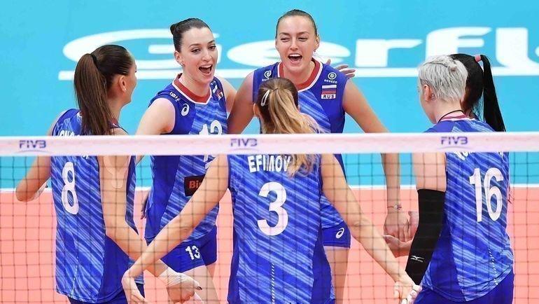 Женская сборная России поволейболу. Фото FIVB