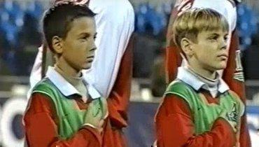 11-летний Александр Кокорин (справа) наматче ЦСКА— Локомотив (0:1) 21ноября 2002 года.