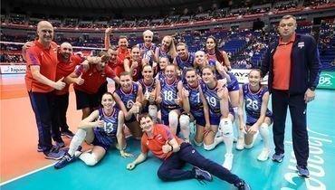 Волейбольная сборная России наКубке мира.
