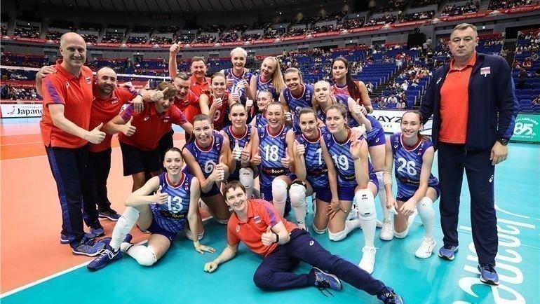 Волейбольная сборная России наКубке мира. Фото FIVB