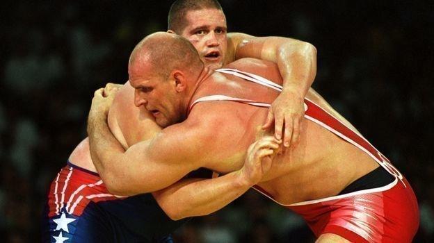 27сентября 2000 года. Сидней. Александр Карелин (справа) против Рулона Гарднера. Фото Сергей Киврин иАндрей Голованов