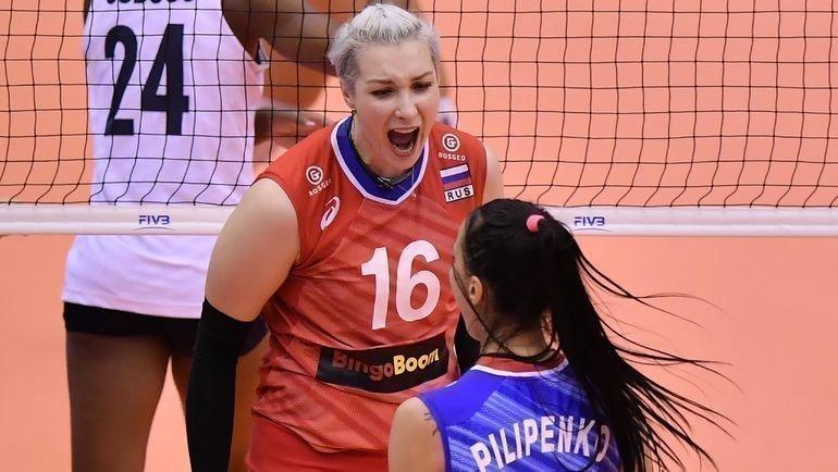 27сентября. Осака. Россия— США— 2:3. Россиянки потеряли шансы выиграть Кубок мира. Фото FIVB