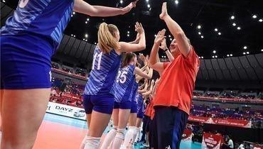 Серджио Бузато сигроками женской сборной России.