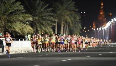 Ночной марафон вДохе.