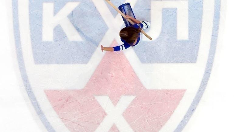 Логотип КХЛ нальду. Фото Юрий Кузьмин, photo.khl.ru