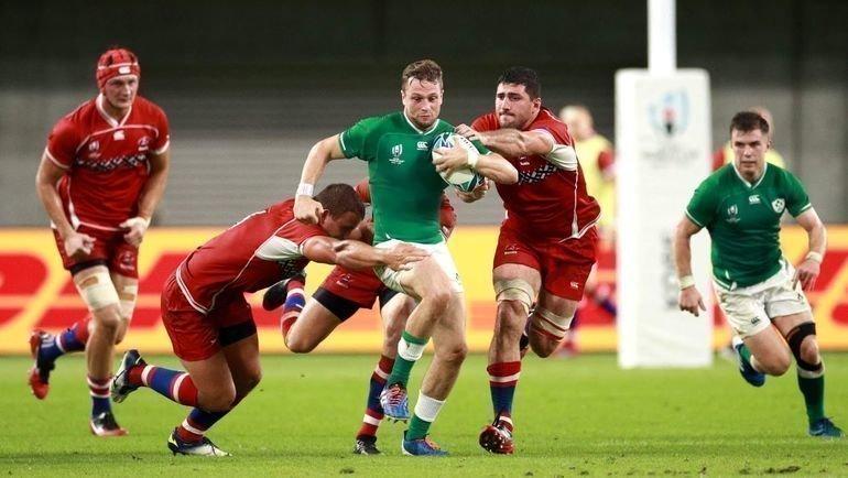 Сборная России уступила Ирландии 0:35, нодала настоящий бой. Фото World Rugby