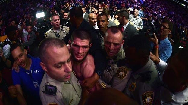 6октября 2018 года. Лас-Вегас. Хабиб Нурмагомедов. Фото AFP