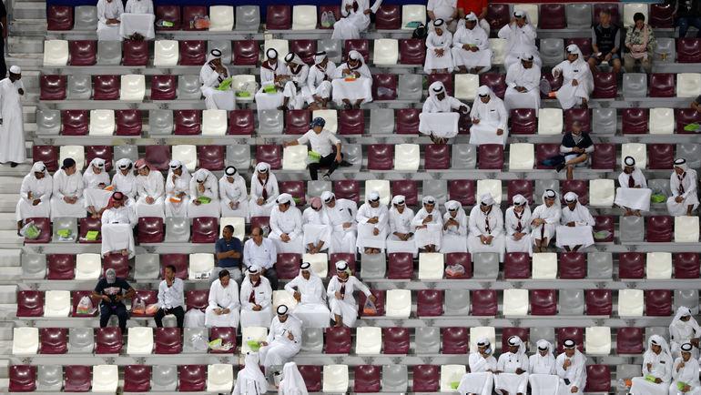 Зрители чемпионата мира полегкой атлетике вДохе. Фото Reuters