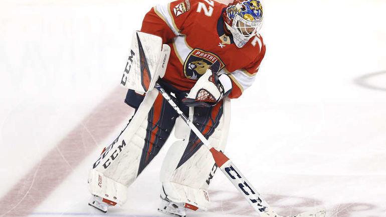 9октября. Майами. BB&T Center. «Флорида»— «Каролина»— 3:6. Сергей Бобровский. Фото NHL