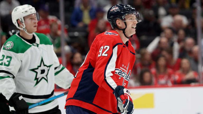 9октября. Вашингтон. Capital One Arena. «Вашингтон»— «Даллас»— 3:4 ОТ. Евгений Кузнецов. Фото NHL