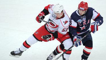 4октября 2010 года. Санкт-Петербург. СКА— «Каролина»— 5:3. Последний насегодня матч российский команды против представителя НХЛ.