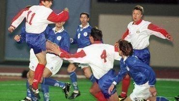 29марта 1997 года. Паралимни. Кипр— Россия— 1:1. Россияне лишь раз забили скромному сопернику.