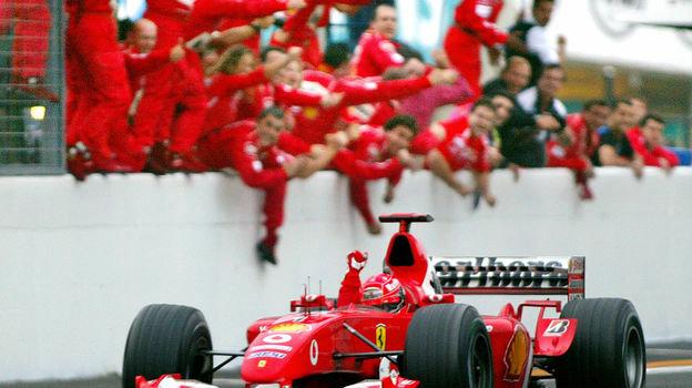 12октября 2003 года. Судзука. Михаэль Шумахер. Фото Reuters