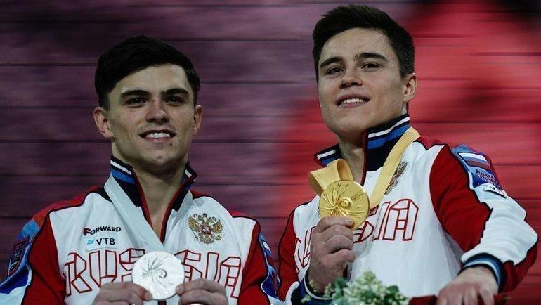 11октября. Штутгарт. Никита Нагорный (справа) иАртур Далалоян. Фото AFP