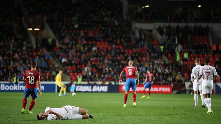 Англия прервала беспроигрышную серию вматчах отборочных этапов чемпионатов Европы имира. Фото Reuters