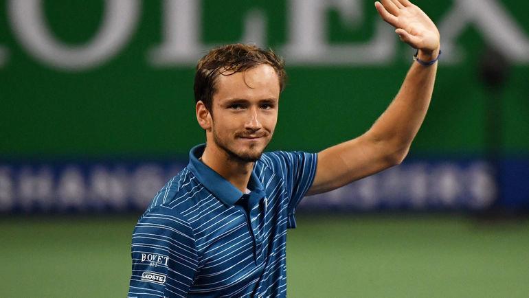 12октября. Шанхай. Даниил Медведев обыграл Стефаноса Циципаса вполуфинале турнира ATP. Фото Reuters