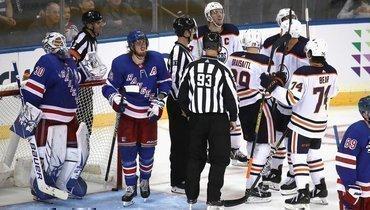 12октября. Нью-Йорк. «Рейнджерс»— «Эдмонтон»— 1:4. Гости установили рекорд НХЛ поколичеству волевых побед подряд настарте сезона.