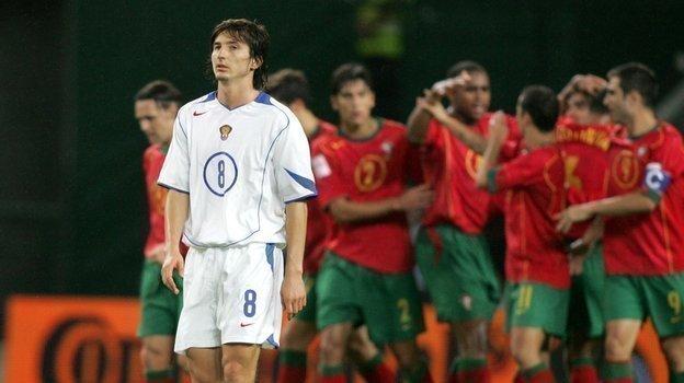 13октября 2004 года. Лиссабон. Португалия— Россия— 7:1. Евгений Алдонин.