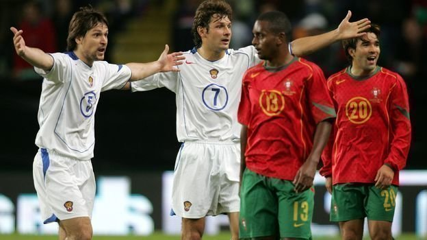 13октября 2004 года. Лиссабон. Португалия— Россия— 7:1. Фото Александр Федоров,