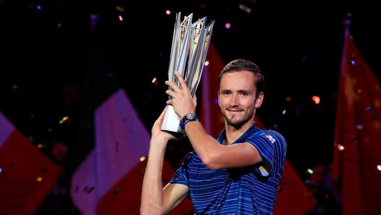 13октября. Шанхай. Даниил Медведев переиграл вфинале Александра Зверева. Фото Reuters