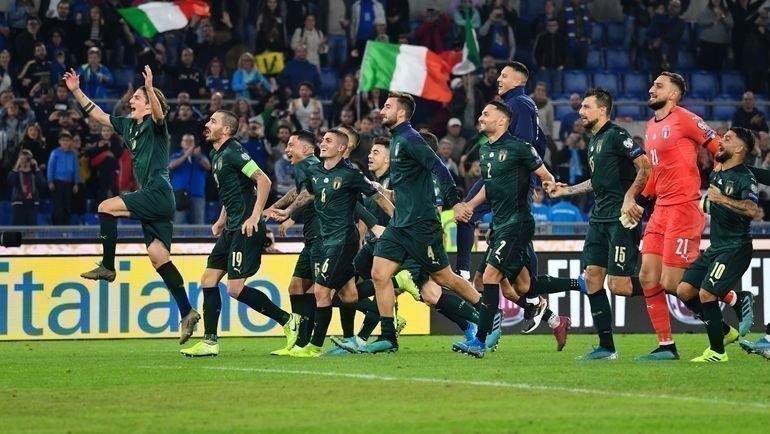 Италия второй получила путевку вфинальный турнир чемпионата Европы-2020. Фото AFP