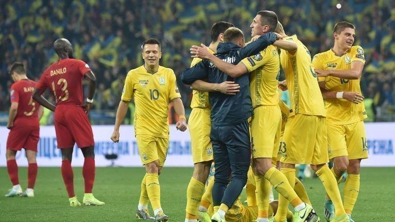Футболисты сборной Украины только что вышли наЕвро-2020. Фото AFP