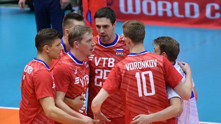 15октября. Хиросима. Россия— Тунис— 3:0. Россияне заняли шестое место натурнире. Фото FIVB