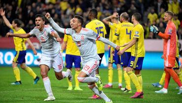 15октября. Стокгольм. Швеция— Испания— 1:1. Испанцы смогли отыграться напоследней минуте встречи иоформили путевку вфинальную часть чемпионата Европы.