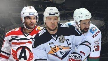 Сергей Мозякин (вцентре), Найджел Доус (слева) иДанис Зарипов.