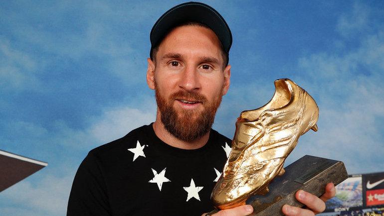 Нападающий «Барселоны» Лионель Месси вшестой раз получил приз «Золотая бутса», награду, учрежденную Ассоциацией европейских спортивных изданий (ESM).