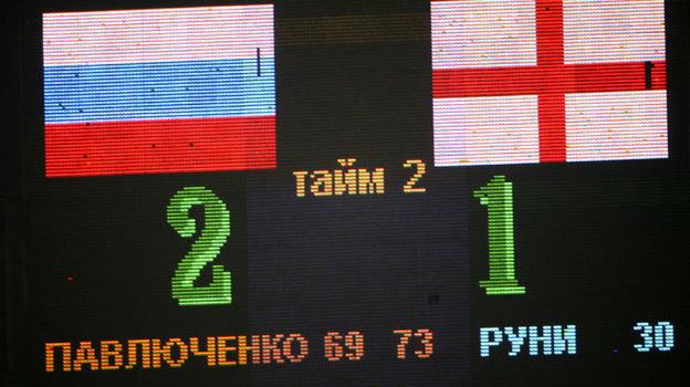 17октября 2007 года. Москва. Россия— Англия— 2:1. Счат— натабло. Фото Александр Федоров,