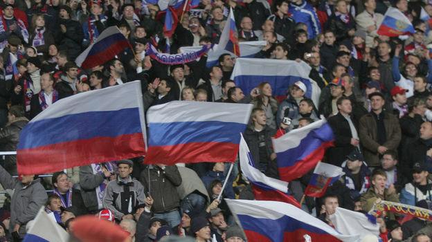 17октября 2007 года. Москва. Россия— Англия— 2:1. Российские болельщики. Фото Александр Вильф