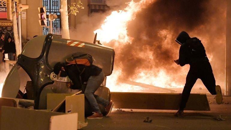 Беспорядки вБарселоне. Фото AFP