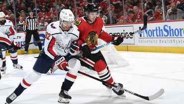20октября. Чикаго. «Чикаго»— «Вашингтон»— 3:5. Вигре Евгений Кузнецов (слева).