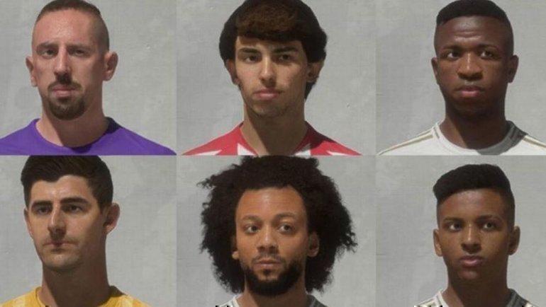 Франк Рибери (верхний слева) получил новое лицо вFIFA 20. Фото FIFA 20
