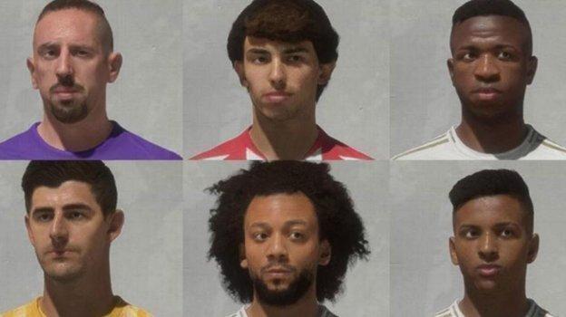 Франк Рибери (верхний слева) получил новое лицо в FIFA 20. Фото FIFA 20