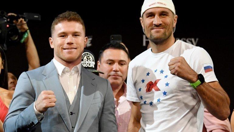 Сергей Ковалев (справа) vsСауль Альварес. Скоро. Фото AFP