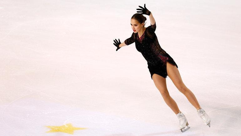 1ноября. Гренобль. Алина Загитова вовремя исполнения короткой программы. Фото Reuters