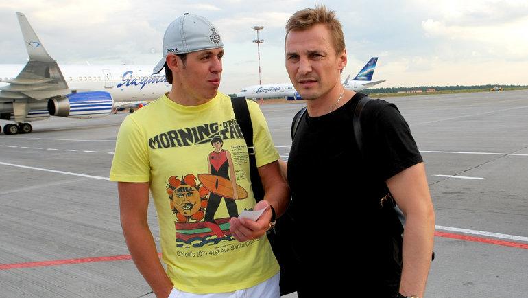 2009 год. Сергей Федоров (справа) иЕвгений Малкин. Фото photo.khl.ru