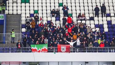 4ноября. Самара. «Крылья Советов»— «Рубин»— 0:0. Сектор фанатов казанской команды.